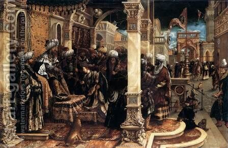 The Story of Esther by Hans, the elder Burgkmair - Reproduction Oil Painting