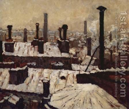 Rooftops in the Snow by Gustave Caillebotte - Reproduction Oil Painting