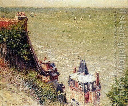 The Pink Villa, Trouville by Gustave Caillebotte - Reproduction Oil Painting