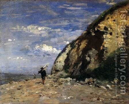 Fisherman by Adolphe-Felix Cals - Reproduction Oil Painting