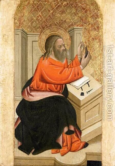 An Evangelist by Cecco Di  Pietro - Reproduction Oil Painting