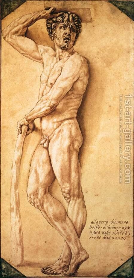 Satyr 2 by Benvenuto Cellini - Reproduction Oil Painting