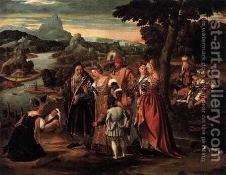 Finding of Moses by Stefano  Cernotto - Reproduction Oil Painting