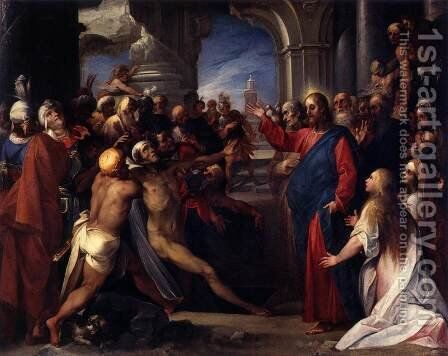 Raising of Lazarus by Giuseppe (d'Arpino) Cesari (Cavaliere) - Reproduction Oil Painting