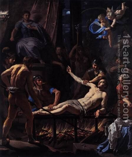 The Martyrdom of St Lawrence by Jean Baptiste de Champaigne - Reproduction Oil Painting