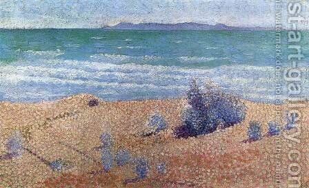 Beach on the Mediterranean by Henri Edmond Cross - Reproduction Oil Painting