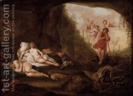 Diana and Her Nymphs by Abraham van Cuylenborch - Reproduction Oil Painting