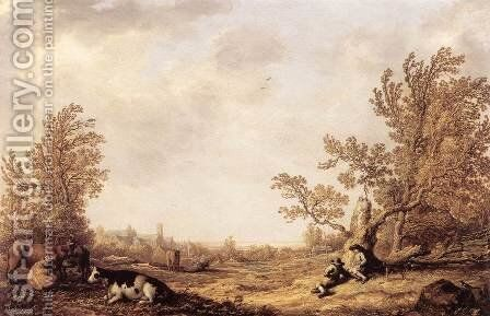 Meadow with Cows and Herdsmen by Aelbert Cuyp - Reproduction Oil Painting