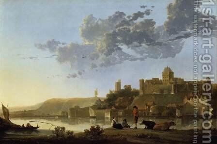 The Valkhof at Nijmegen by Aelbert Cuyp - Reproduction Oil Painting