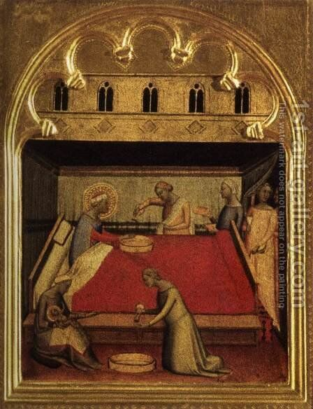 Polyptych of San Pancrazio Predella panel 3 by Bernardo Daddi - Reproduction Oil Painting