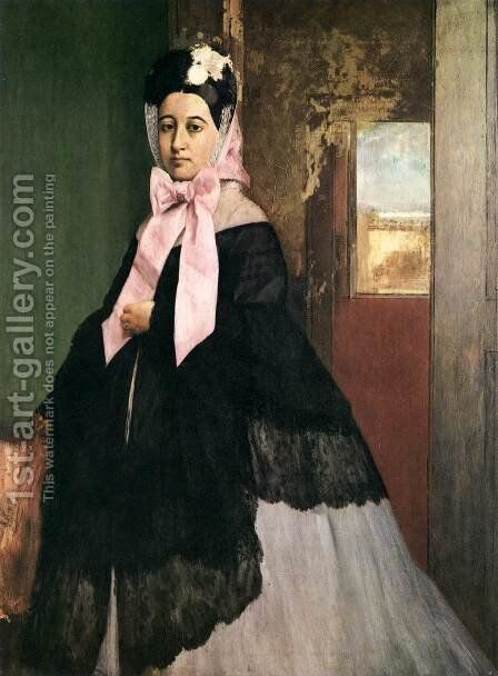 Portrait of Therse de Gas by Edgar Degas - Reproduction Oil Painting