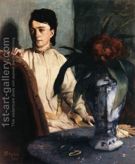 Seated Woman 2 by Edgar Degas - Reproduction Oil Painting