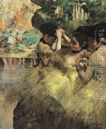 Dancers Preparing for the Ballet by Edgar Degas - Reproduction Oil Painting