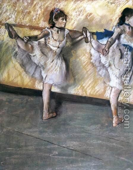 Two Dancers at the Bar by Edgar Degas - Reproduction Oil Painting