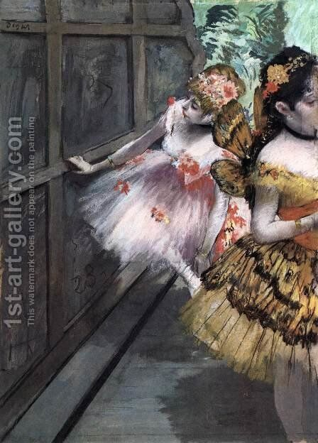 Dancers in the Wings 2 by Edgar Degas - Reproduction Oil Painting