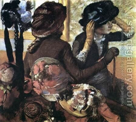 The Millinery Shop by Edgar Degas - Reproduction Oil Painting