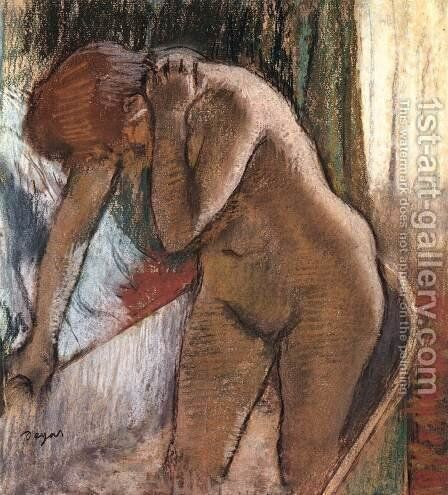 Woman in Bath by Edgar Degas - Reproduction Oil Painting