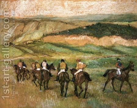 Before the Race 2 by Edgar Degas - Reproduction Oil Painting