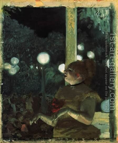 Music Hall Singer (La Chanson du Chien) by Edgar Degas - Reproduction Oil Painting