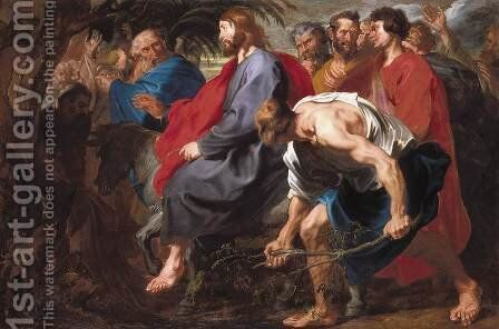 Entry of Christ into Jerusalem by Sir Anthony Van Dyck - Reproduction Oil Painting