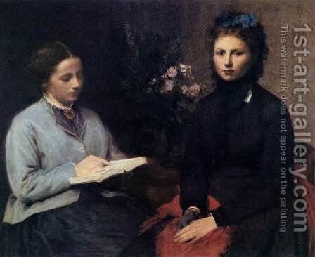 The Reading by Ignace Henri Jean Fantin-Latour - Reproduction Oil Painting