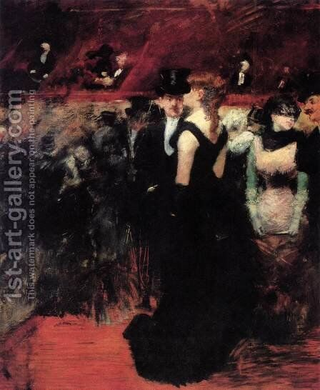 Ball at the Paris Opera by Jean-Louis Forain - Reproduction Oil Painting