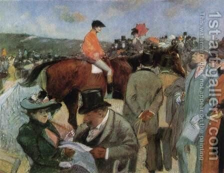 At the Races 2 by Jean-Louis Forain - Reproduction Oil Painting