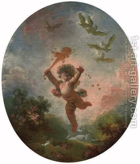 Love as Folly by Jean-Honore Fragonard - Reproduction Oil Painting