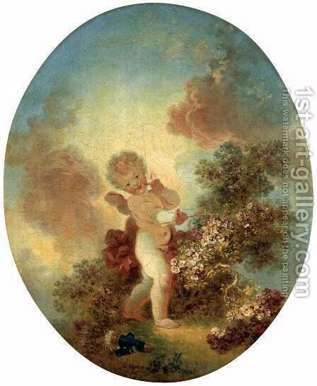 Love the Sentinel 2 by Jean-Honore Fragonard - Reproduction Oil Painting
