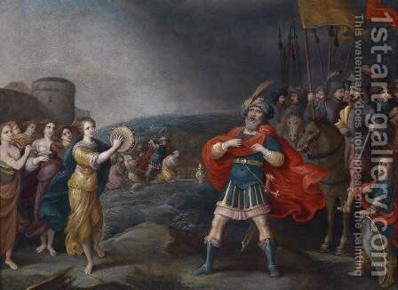 The Victorious General Jephta Meeting His Daughter by Hieronymous III Francken - Reproduction Oil Painting