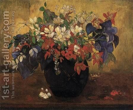 A Vase of Flowers by Paul Gauguin - Reproduction Oil Painting