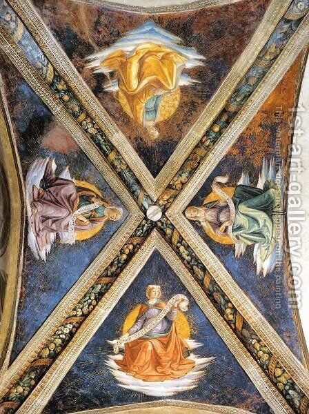 Vaulting of the Sassetti Chapel by Domenico Ghirlandaio - Reproduction Oil Painting