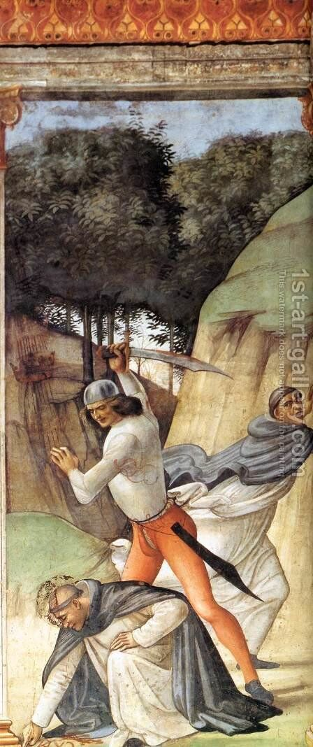 Martyrdom of St Peter Martyr by Domenico Ghirlandaio - Reproduction Oil Painting