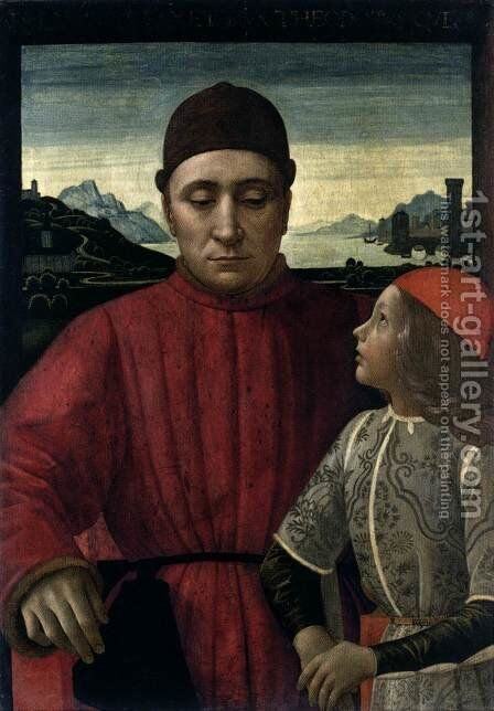 Francesco Sassetti and His Son Teodoro II by Domenico Ghirlandaio - Reproduction Oil Painting
