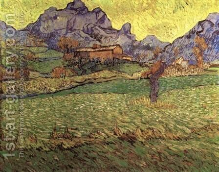 A Meadow in the Mountains Le Mas de Saint-Paul by Vincent Van Gogh - Reproduction Oil Painting