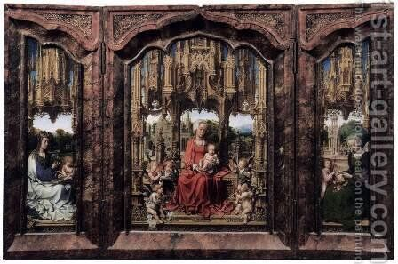 The Malvagna Triptych by Jan (Mabuse) Gossaert - Reproduction Oil Painting