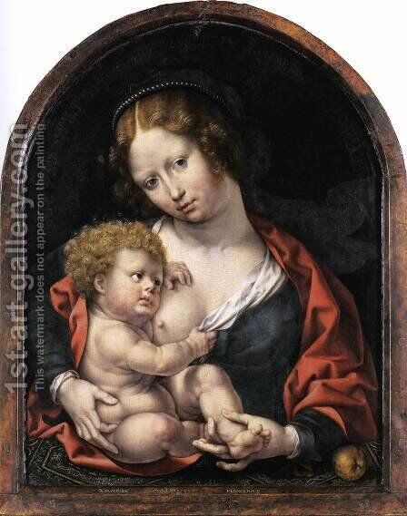 Virgin and Child 2 by Jan (Mabuse) Gossaert - Reproduction Oil Painting