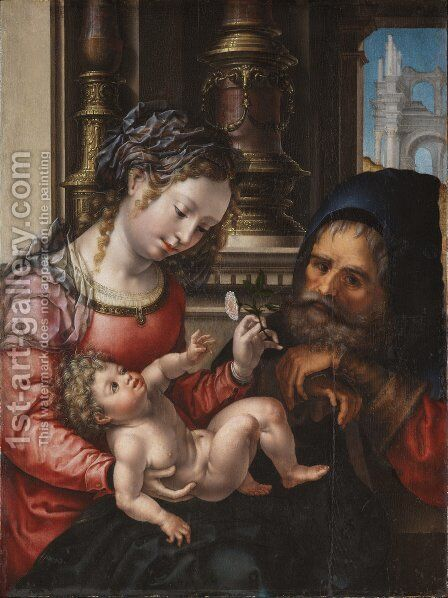 The Holy Family 2 by Jan (Mabuse) Gossaert - Reproduction Oil Painting