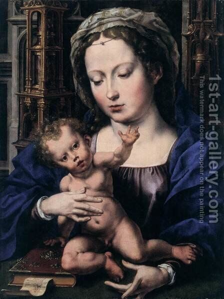 Virgin and Child 3 by Jan (Mabuse) Gossaert - Reproduction Oil Painting