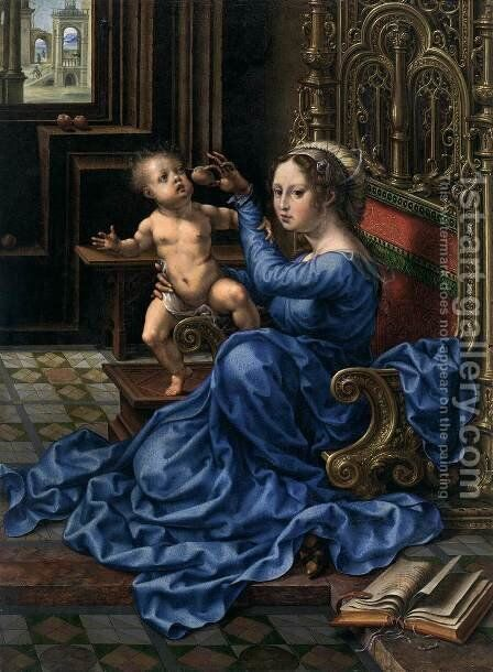 Virgin and Child 4 by Jan (Mabuse) Gossaert - Reproduction Oil Painting