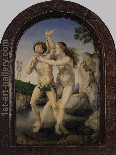 Hermaphroditus and Salmacis by Jan (Mabuse) Gossaert - Reproduction Oil Painting