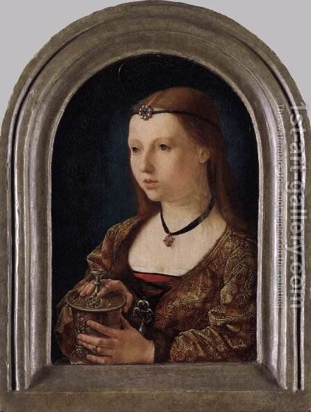 Mary Magdalen by Jan (Mabuse) Gossaert - Reproduction Oil Painting