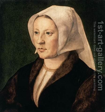 Portrait of a Woman by Jan (Mabuse) Gossaert - Reproduction Oil Painting