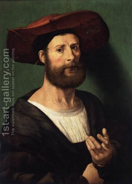 Portrait of a Man 3 by Jan (Mabuse) Gossaert - Reproduction Oil Painting