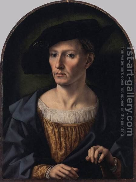 Portrait of a Man 4 by Jan (Mabuse) Gossaert - Reproduction Oil Painting
