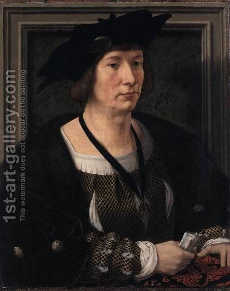 Portrait of a Man 5 by Jan (Mabuse) Gossaert - Reproduction Oil Painting