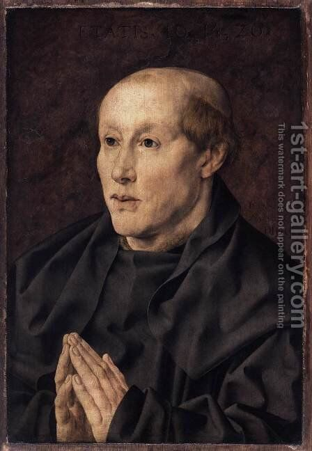 Portrait of a Monk by Jan (Mabuse) Gossaert - Reproduction Oil Painting