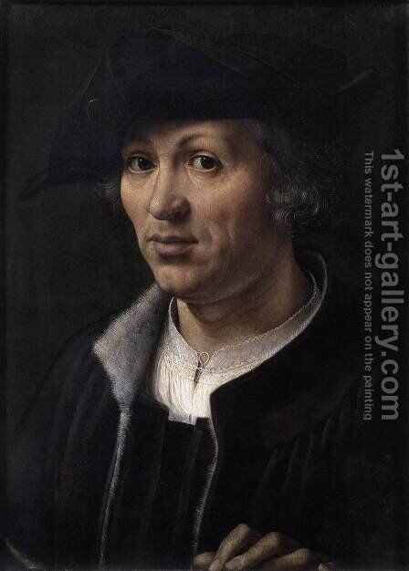 Portrait of a Man 7 by Jan (Mabuse) Gossaert - Reproduction Oil Painting