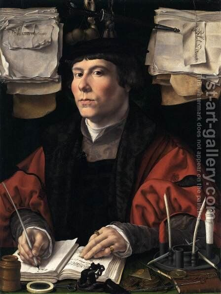 Portrait of a Man 9 by Jan (Mabuse) Gossaert - Reproduction Oil Painting