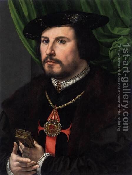 Portrait of Francisco de los Cobos y Molina by Jan (Mabuse) Gossaert - Reproduction Oil Painting